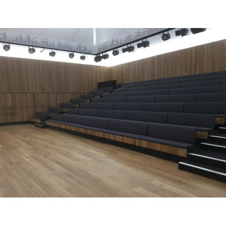 Retractable Seating with Bench Seating and End Aisles