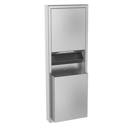 Combination paper towel dispenser and waste bin - RODX602