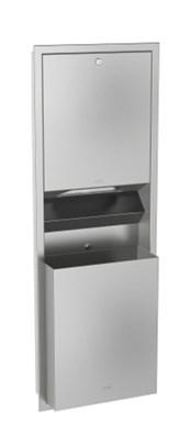 Combination paper towel dispenser and waste bin - RODX602E