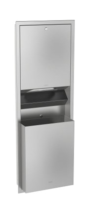 Combination paper towel dispenser and waste bin - RODX602E