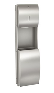 Combination paper towel dispenser and waste bin - STRX602E