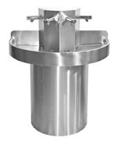Semi-Circular Wash Trough