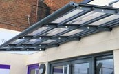 Beck Wall Mounted Entrance / Walkway Canopy