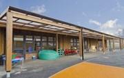 Tarnhow Mono Free Standing Timber Canopy- Tensile Fabric Roof