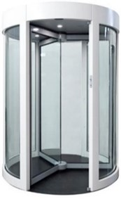 GyroSec FW Motorized Security Revolving Door - Semi-external, 3 wings