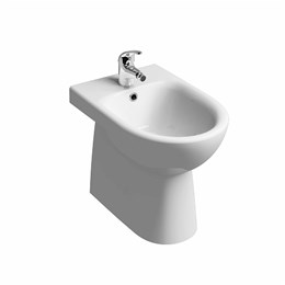 E100 Round Floor Standing, Back to Wall Bidet