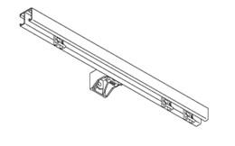 1280 Hand Curtain Track - Straight