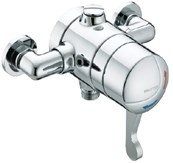 OP TS1503 EL C Opac Exposed Shower Valve with lever handle