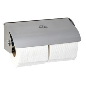 BC267 Dolphin Double Stainless Steel Lockable Toilet Paper Dispenser