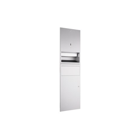 WP540R Dolphin Prestige Paper Towel Dispenser and Waste Bin Combination Unit