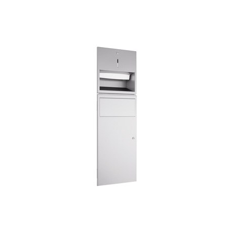 WP530R Dolphin Prestige Towel Dispenser and Waste Bin Combination Unit