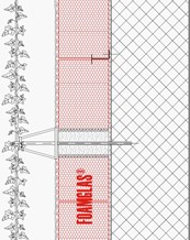 2.1.2 - Façade - Foamglas Insulation with Fixing Positions for Planting (Wire Trellis)