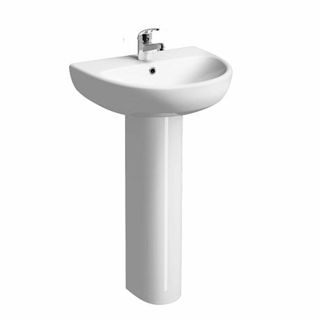E100 Round Wash Basin 600 x 480 mm, 1 Tap