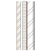 Brick cavity wall with partial fill insulation and plaster