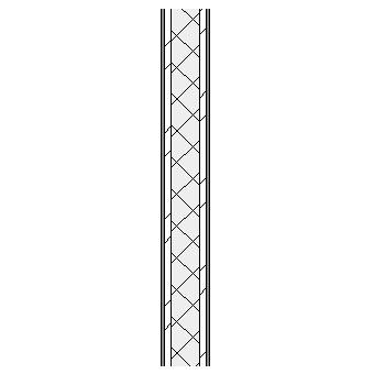 Concrete block wall with plasterboard linings on metal furrings