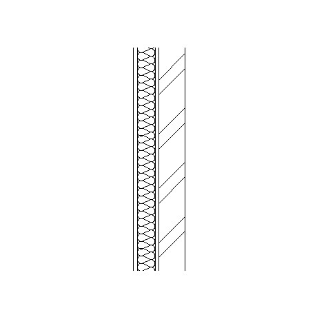 Sheet steel cladding with weather barrier, insulation and steel frame