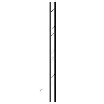 Steel stud wall with plasterboard linings