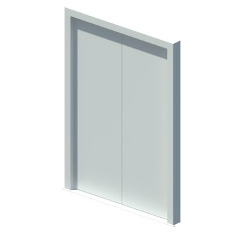 External blank equal double leaf door