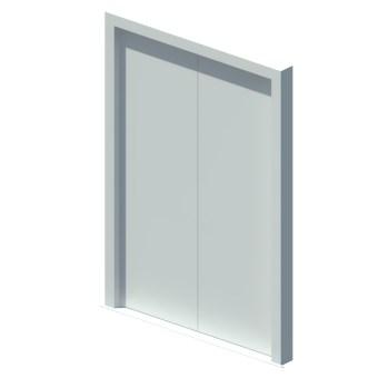 External blank equal double leaf door