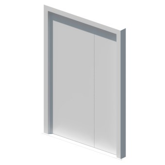 External blank unequal double leaf door