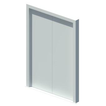External equal double leaf door