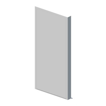 External single leaf door