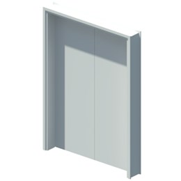 Internal blank equal double leaf door