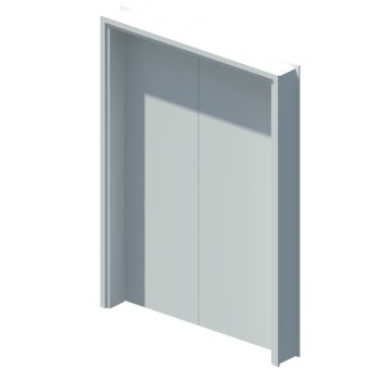 Internal blank unequal double leaf door