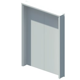 Internal equal double leaf door