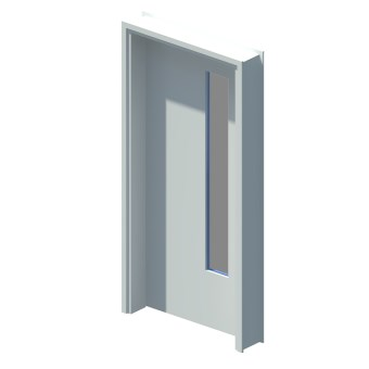 Internal single leaf door with vision panel style 01
