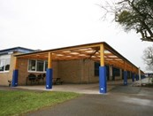 Tarnhow Mono Wall Mounted Timber Canopy - Tensile Fabric Roof