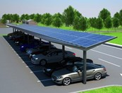 Kensington Dual-Pitch Solar Canopy - 50 kWp