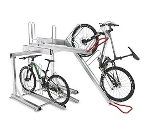 Vario Hub two-tier cycle rack