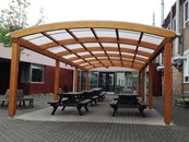Tarnhow Dome Free Standing Timber Canopy - Tensile Fabric Roof