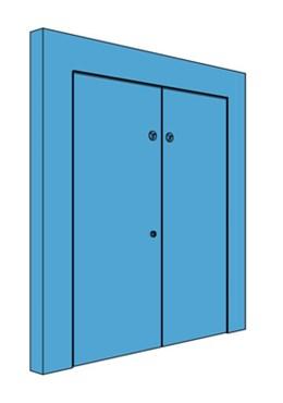 Double Hingeless Metal Riser Door