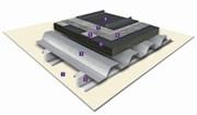 VMZ Standing seam on cellular glass insulation