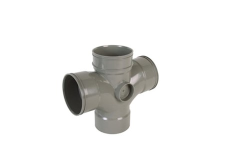 Cert PVC-U Dbl Br 90° E 110 x 110 x 110 D/SW - Soil pipe