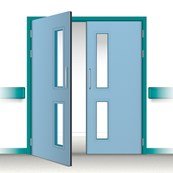 Postformed Double Doorset - Vision Panel 2