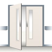Postformed Double Swing Doorset - Vision Panel 4