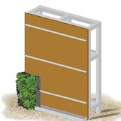 ANS Living Wall System - Ply Backing Type