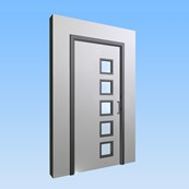 CS Acrovyn® Impact Resistant Doorset - Single with type VP5 Vision Panels