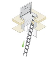 ZIP SRH Roof Hatch with Extended Skirt, Retractable Ladder and Trap Door