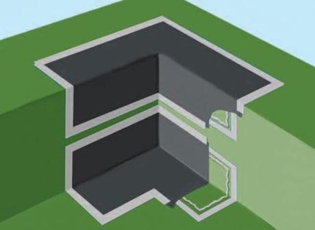 Radon Stop 400 Corner Cloak Internal