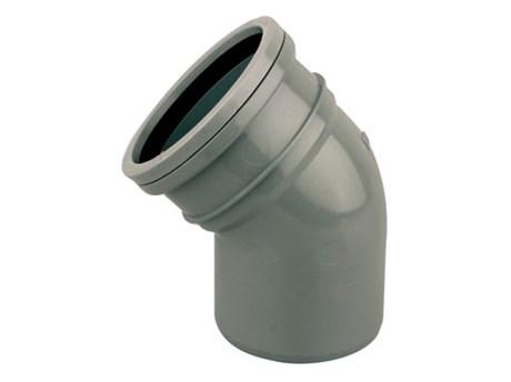 Cert PVC-U Bend 45° S/S - Soil pipe bend