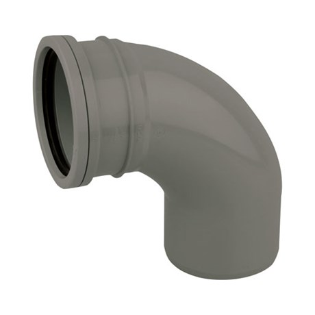 Cert PVC-U Bend 90° S/S - Soil pipe bend