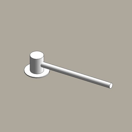 Aluminium column outreach brackets - single arm