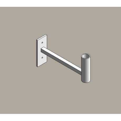 Aluminium street lighting brackets - straight arm
