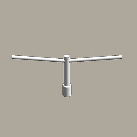 Aluminium column uplift brackets - twin arm