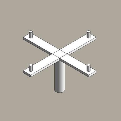 Steel floodlight brackets