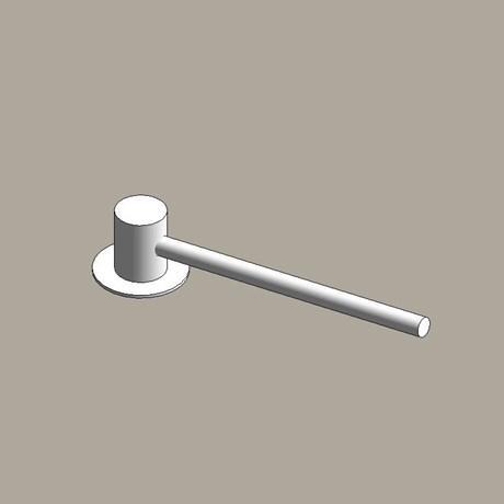 Steel column outreach brackets - single arm